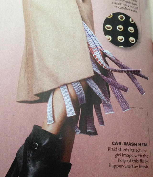 Skirt with shredded hem. Merino Wool by Rhei 425.00