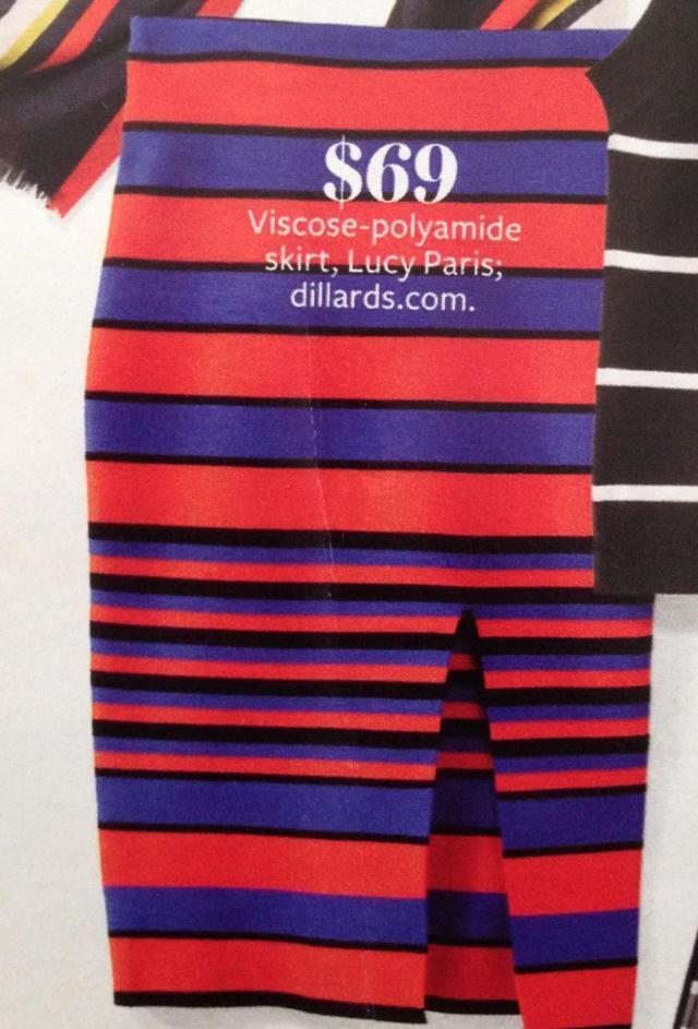 Striped skirt 69.00 Dillards