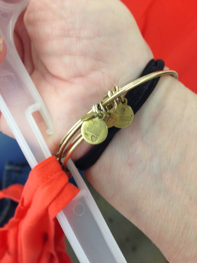 bracelet in hangar