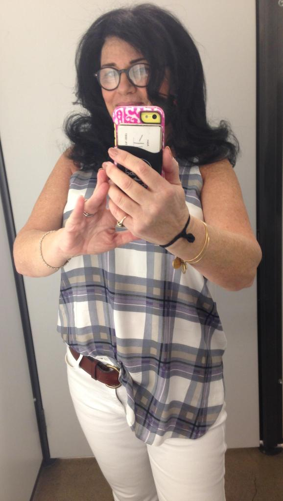 Half tuck is my new fashion statement. Hey. I AM that girl. My hair looks just like Marlo Thomas.