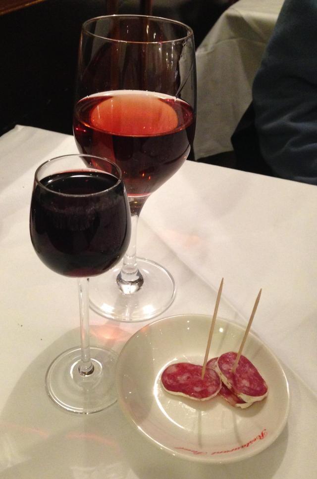 Paris. Chez Paul. A toast to Daniele