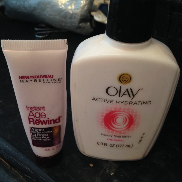 Old school Olay and Maybelline primer