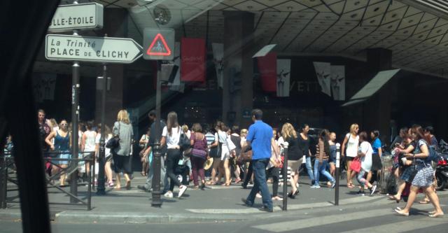 Parisians going to work