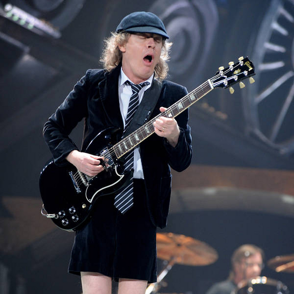 Angus young in shorts