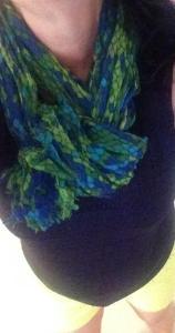 Yellow shorts scarf detail