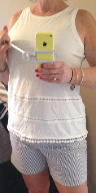 White ON shirt