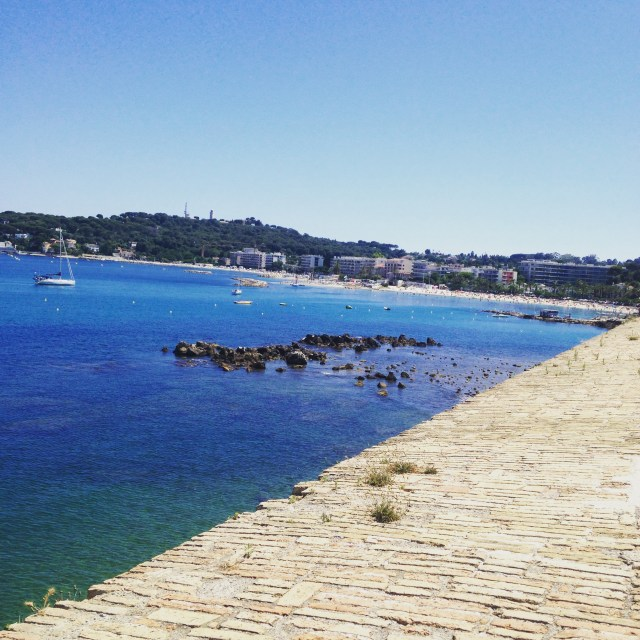 ANtibes bay from the ramparts GOLD