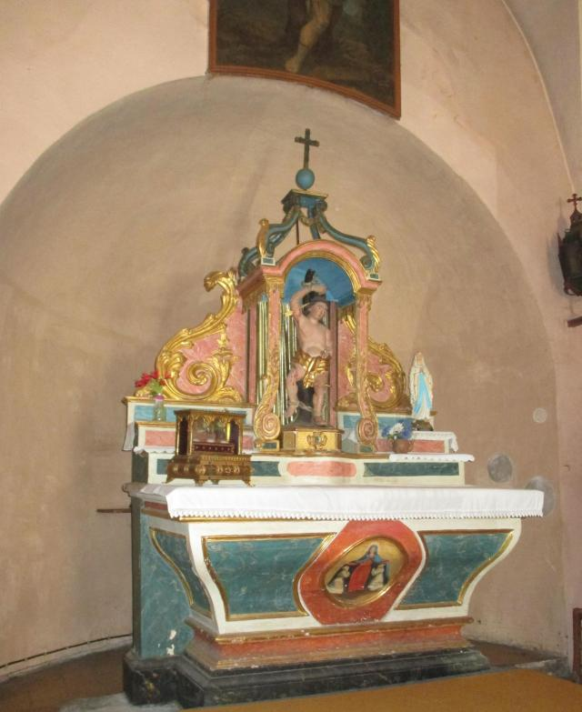 Cabris. Back to see the altar at the chapelle of St. Rita