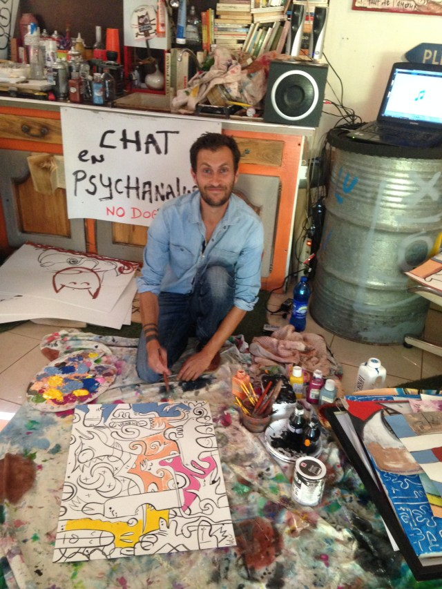 Cabris. Olivier the artist at work and play