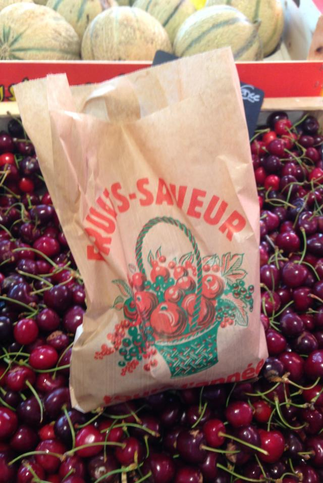 Cannes. Marche Forville. Yer damn right I filled that bag with cherries.