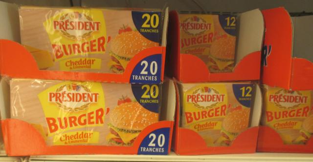 Geant. President Burger cheese. I'm sure this is better than our plastic cheesefood.