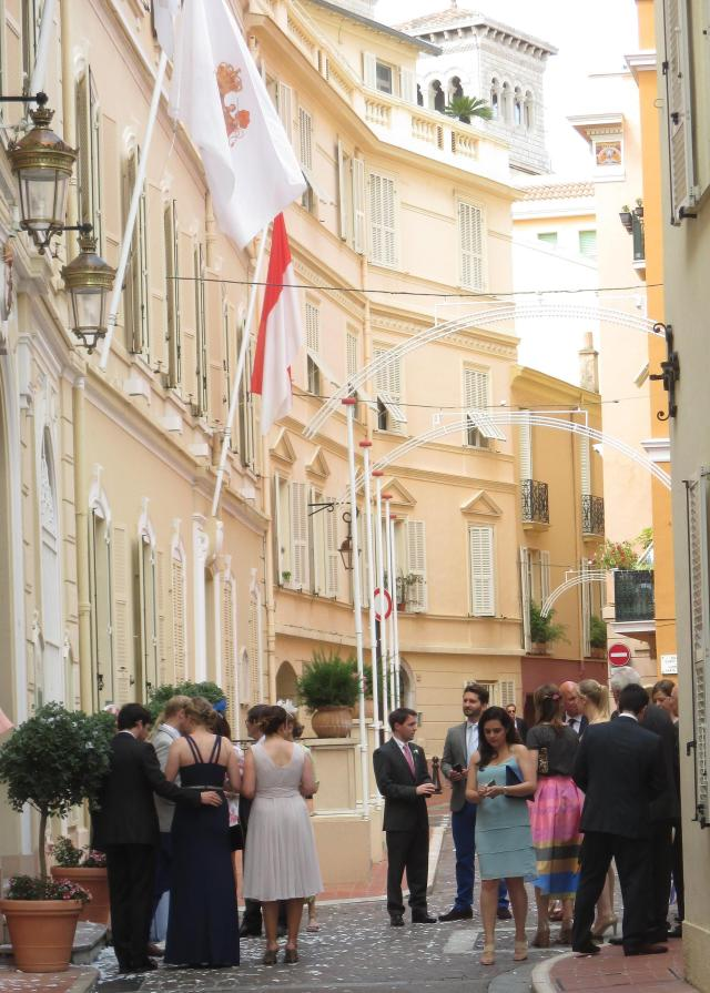 Monaco. Wedding guests