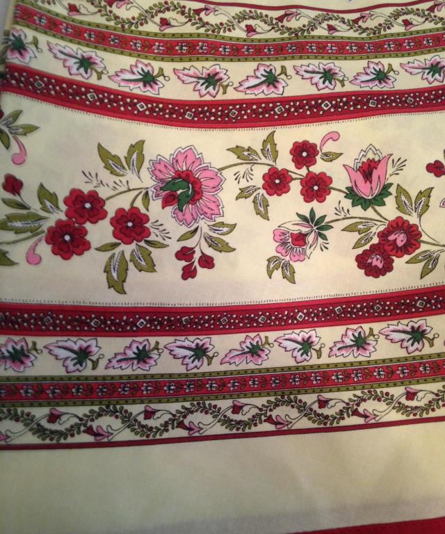 Shopping Tablecloth detail.  Made in France.