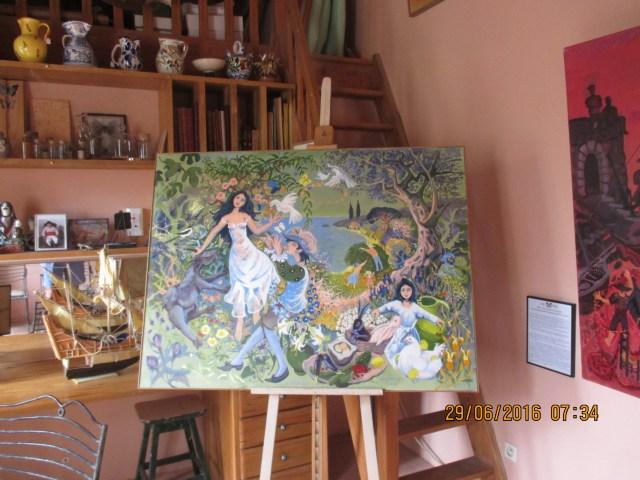 St. Trop. Maison des Papillions. Musee Dany Lartigue. Dany's Studio