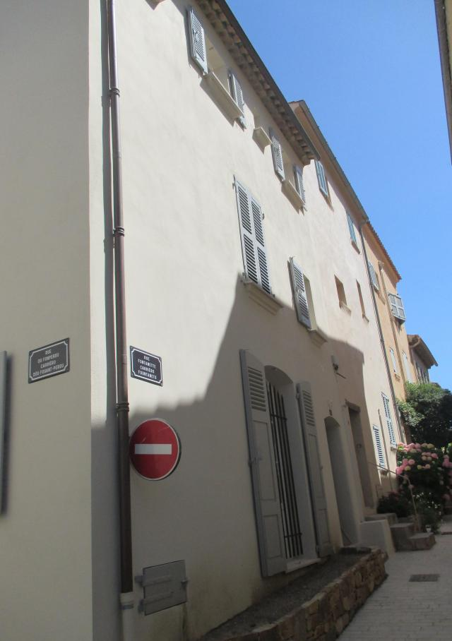 St. Tropez. First visit the street where he lived