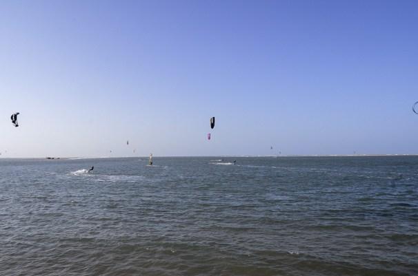 kiteboarding in Atins, Brazil