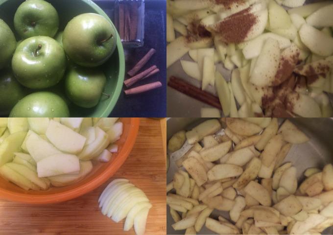 Dulce de Leche Apple Empanadas Wash Peel Sautee