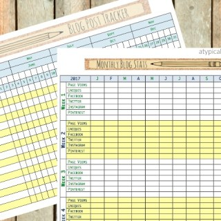 Keep track of your blog posts and stats with these free printable!