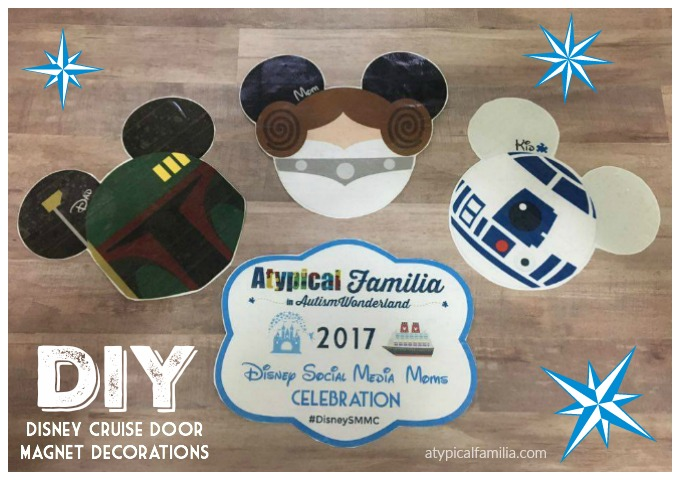 picture regarding Disney Cruise Door Decorations Printable called Do-it-yourself: Tremendous Simple Lovable Disney Cruise Doorway Magnets