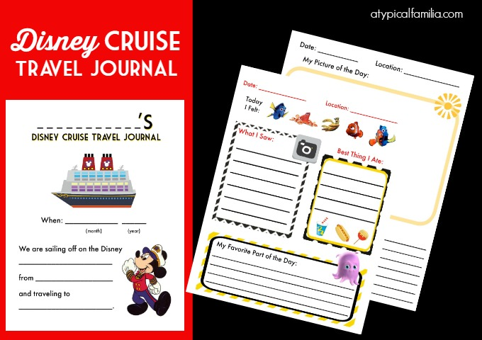 Disney Cruise Travel Journal Printable