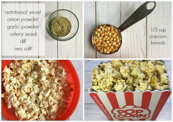 Ingredients for Trader Joe's Popcorn with Herbs and Spices Copy Cat Recipe via Atypical Familia