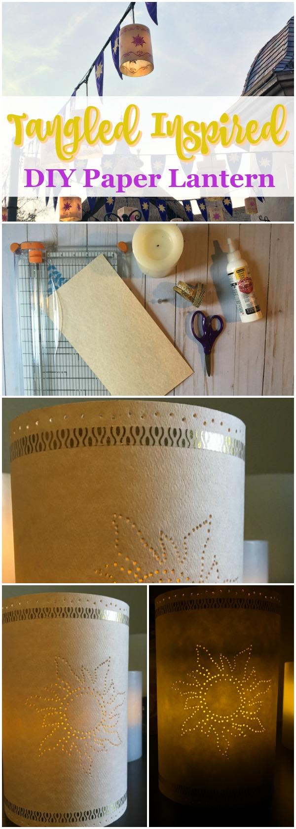 Tangled Inspired DIY Paper Lantern EASY craft via Atypical Familia by Lisa Quinones Fontanez
