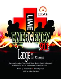 LIME Monday Night Mas demo flyer
