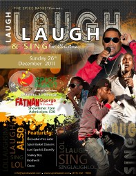 """Spice Basket's """"Laugh and Sing for Christmas"""" flyer"""