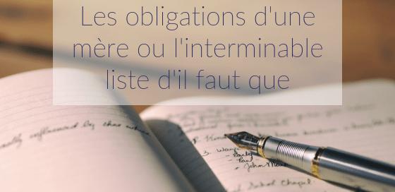 Besoins versus obligations