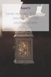 psychothérapie: bilan de santé mentale