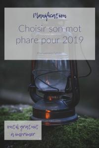 Mot phare - Objectif 2019