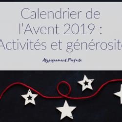 Calendrier de l'Avent 2019: Activités…