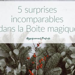 Boite magique: 5 surprises féériques…