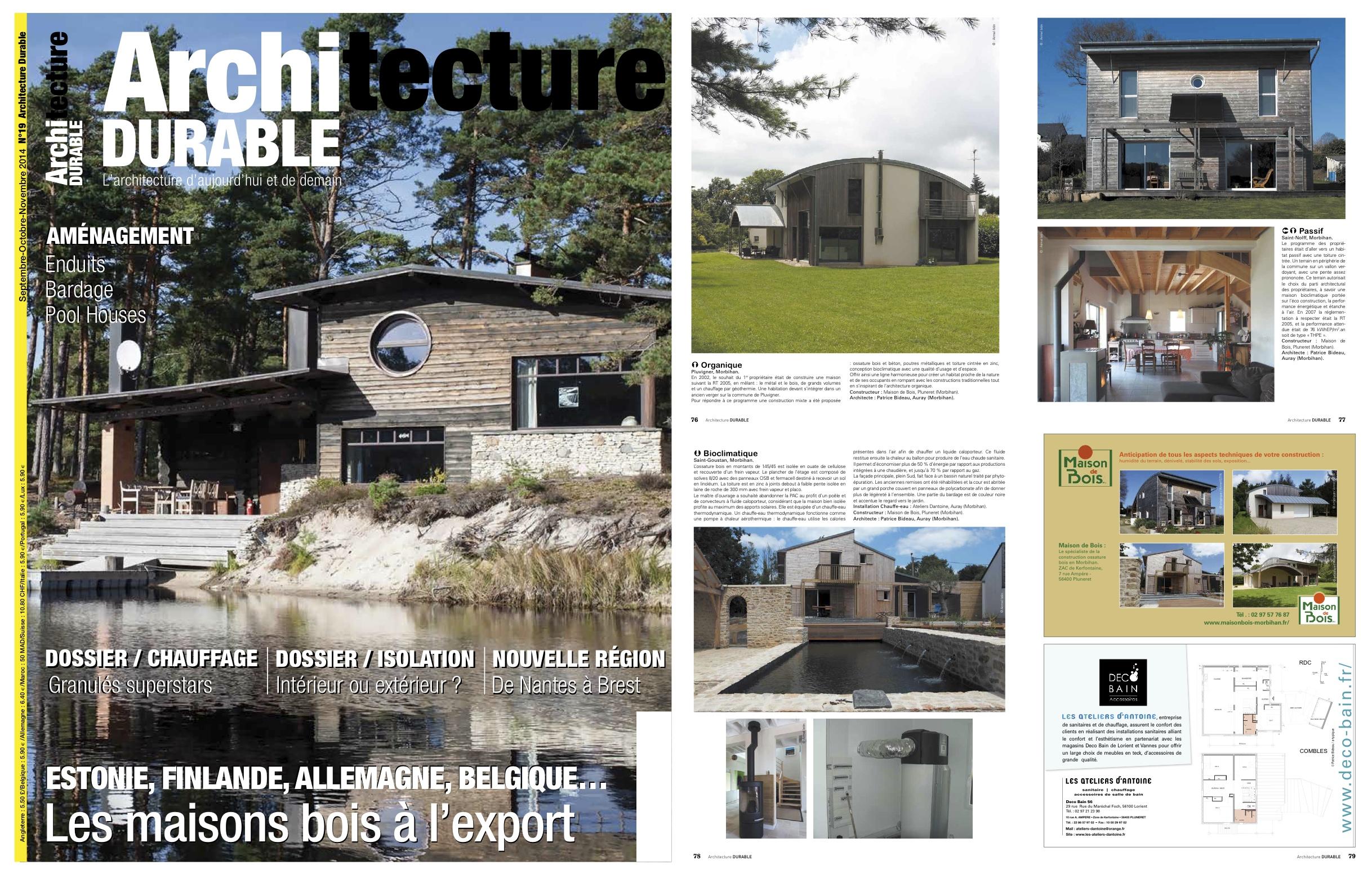 Magazine Architecture Durable N°19 (septoctnov 2014
