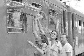 Girona. Casa de Cultura. Imatges de l'exposició La verema dels 80 (Una emigració civilitzada), del fotògraf gironí Jordi Mestre i Vergés. Foto: Jordi Mestre i Vergés