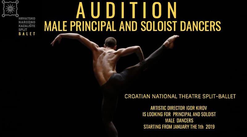 Croatian National Theatre Split / Ballet is Looking for Male Dancers