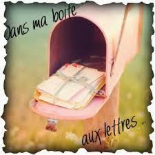 Dans ma boite aux lettres (1)