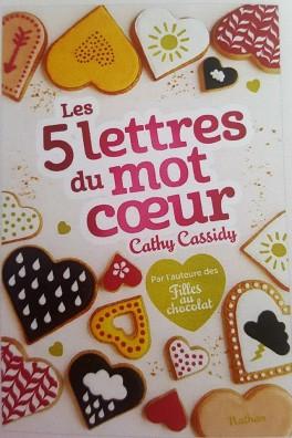 Fanny a lu: Les 5 lettres du mot coeur de Cathy CASSIDY