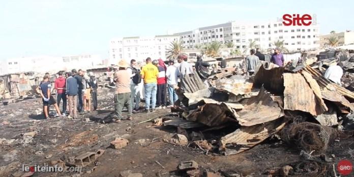 Marché de Tabriquet, à Salé: les images de l'incendie (VIDEO)