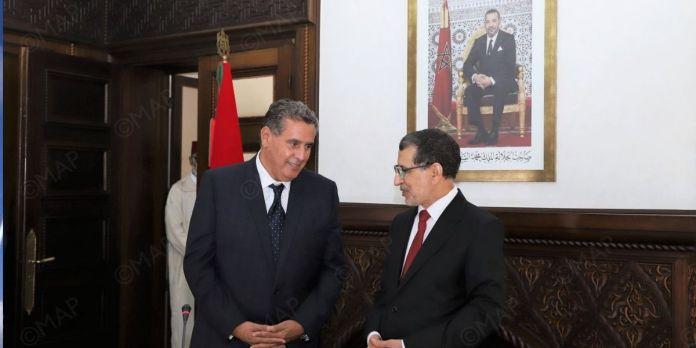 Passation de pouvoirs entre El Otmani et Akhannouch (PHOTOS)