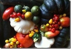 délicieuse récoltes de fruits et légumes