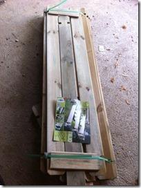 potager bois à construire