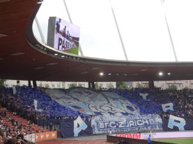 tifo des ultras du FC Zurich dans le derby