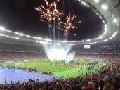 show d'introduction à la finale de LdC à Kiev