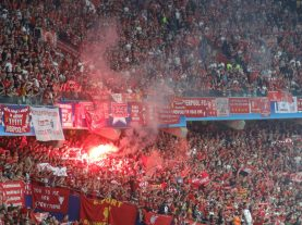 ambiance avant-match lfc - real à kiev