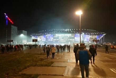 Groupama Stadium en soirée