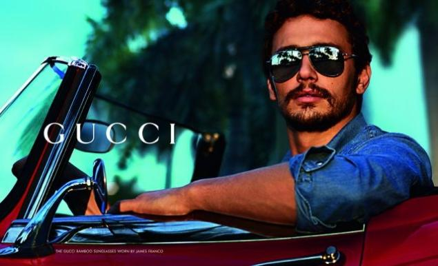 524a40c432 James Franco shows his love for Gucci sunglasses in new campaign