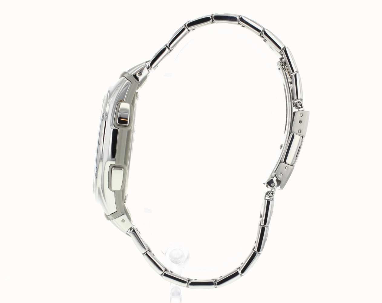 Casio Mens Wave Ceptor Blue Dial Stainless-Steel Watch WVA