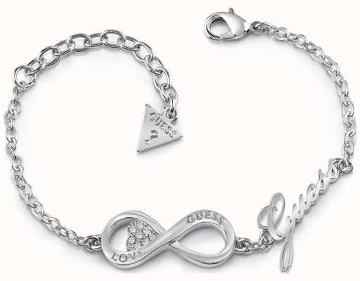 Guess Womans All About Shine 1981 Padlock Heart Bracelet