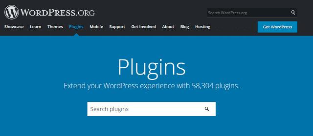 WordPress plugins search page